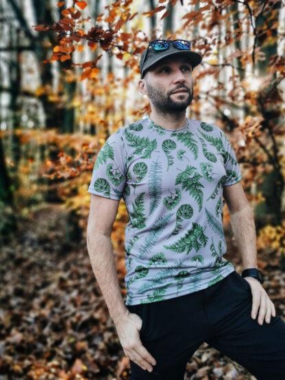koszulka techniczka męska paprocie droga wolna