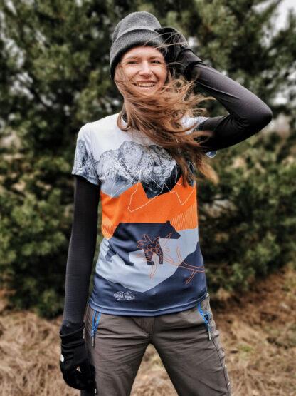 koszulka techniczna damska z niedźwiedziem