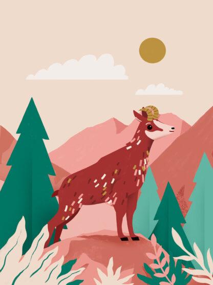 plakat górski kozica