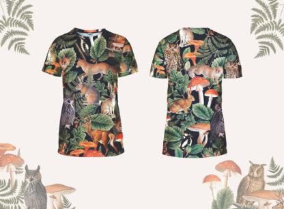 damska koszulka do biegania las