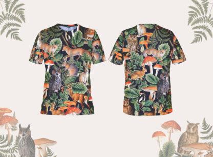 męska koszulka do biegania las
