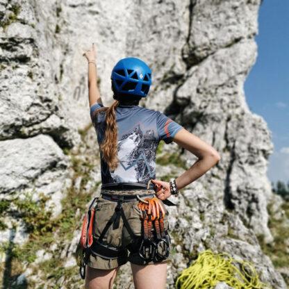 Oddychająca koszulka techniczna w góry damska szczyt szczytów