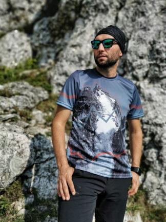 Oddychająca koszulka techniczna w góry męska szczyt szczytów